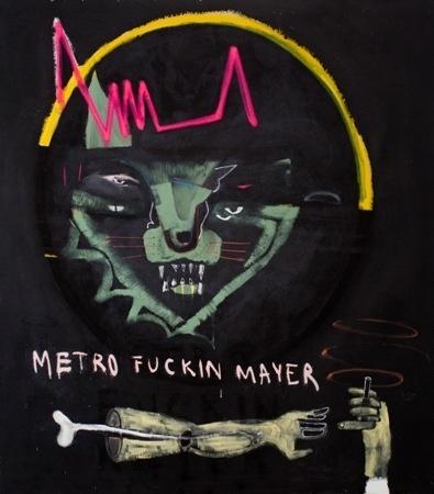 Juan Arata    The Story Killers - 2012    Mixed media on canvas    160 x 160 cm