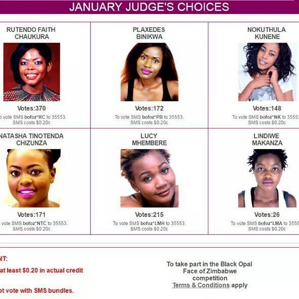 Just a reminder, voting for January Judges choice is open. This is the current state of the votes, keep voting for your favorite contestants.    To keep abreast of the votes visit our website www.blackopalzim.com   #BOFOZ2017  #AllEyesOnMe