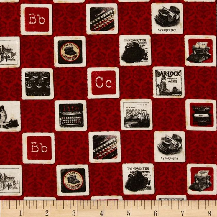 Comunique Wall Designs : Communique Typewriter Red from @fabricdotcom Licensed by Graphic 45 to ...