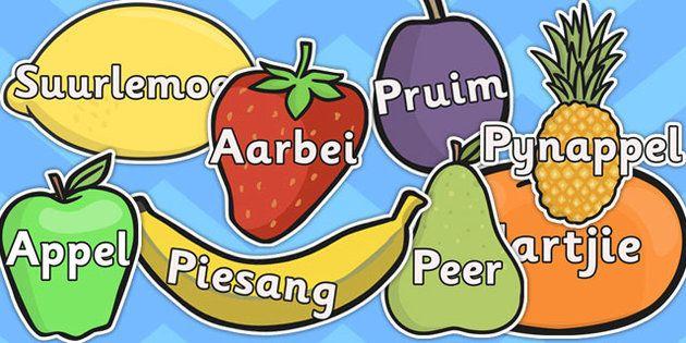 Fruit   Afrikaans