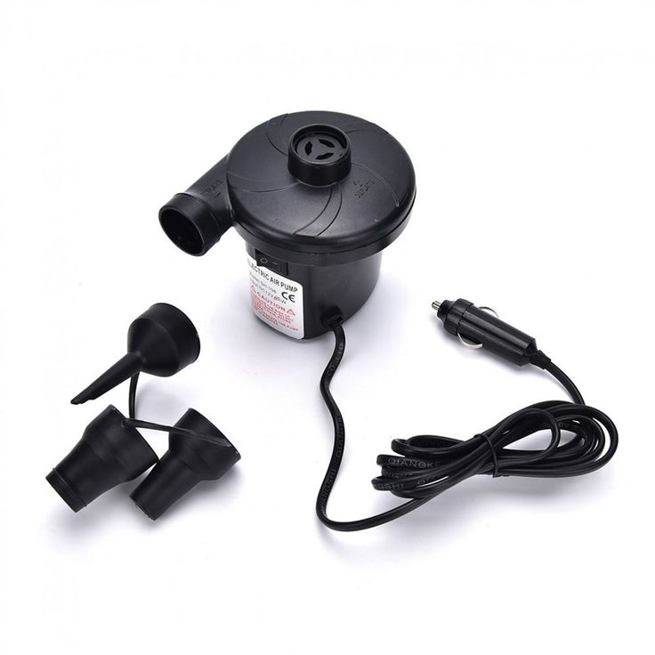 Auto Electric Air Pump Outdoor Car Airbed Mattress Inflatable With 3 Nozzles New #Unbranded