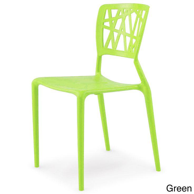 Phoenix Indoor/ Outdoor Molded Resin Colored Side Chair | Overstock.com