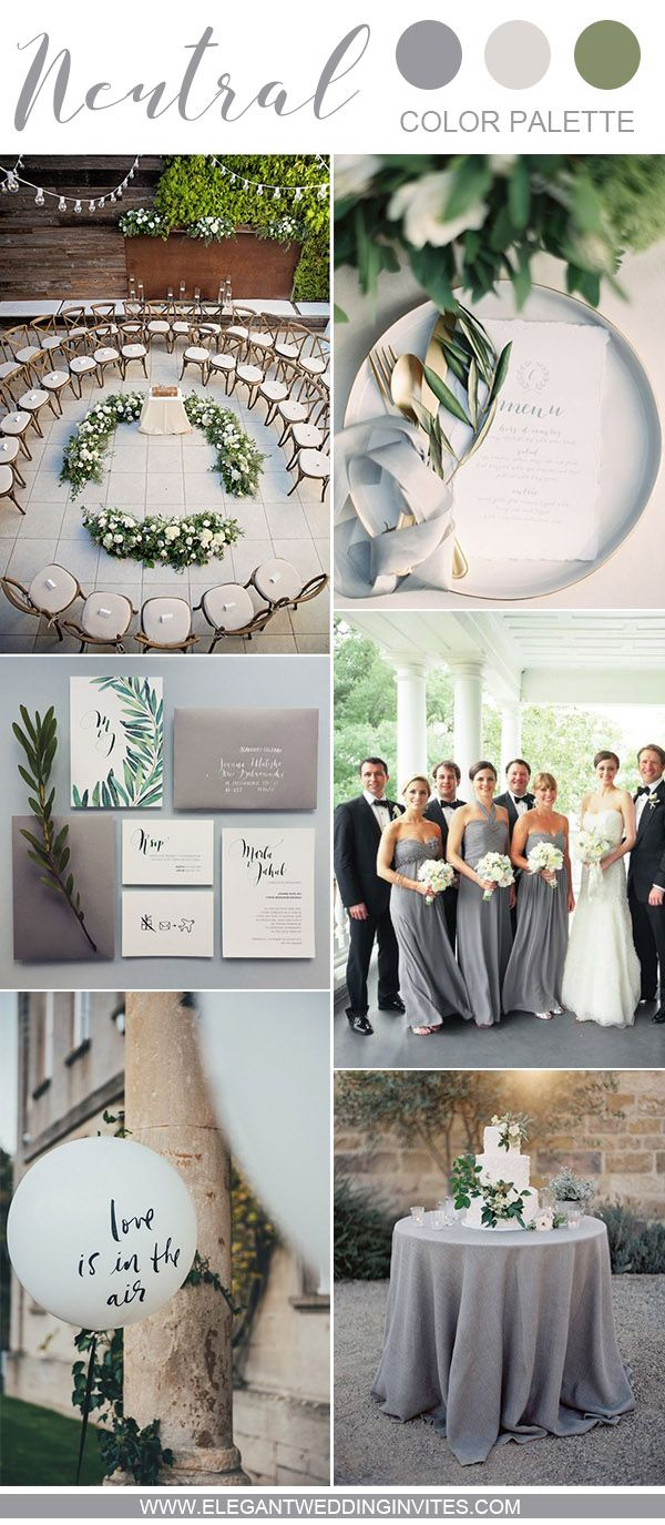 elegant grey and white intimate garden wedding ideas