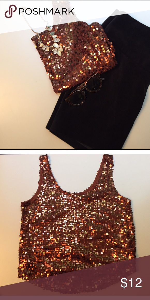 BronZey/ Penny colored tank top Good condition. Forever 21 Tops Tank Tops