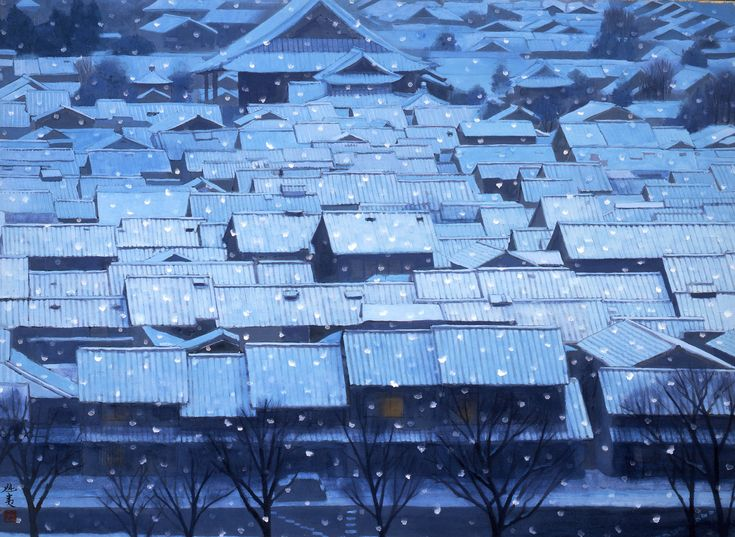 Year End Snow, Kyoto. 1968 Higashiyama Kaii (1908-1999)