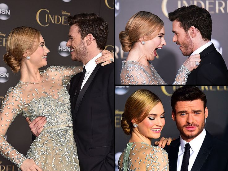 lily james and richard madden cinderella premiere | Lily James, who plays Cinderella and Richard Madden, who plays the ...