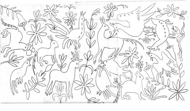 otomi pattern drawing by brooks.fountains, via Flickr