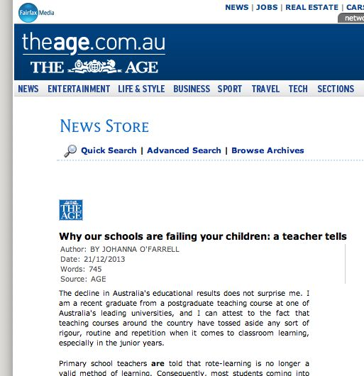 Why our schools are failing your children: a teacher tells.
