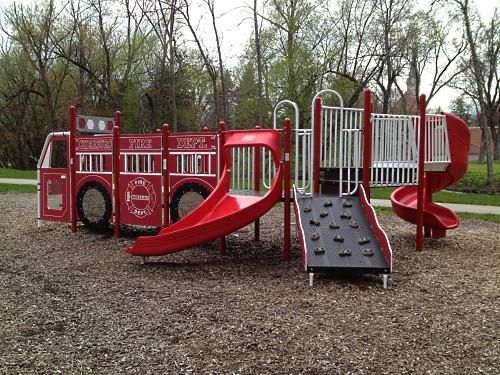 Firetruck Playground! Photo Gallery - Commercial Playground Equipment | Outdoor Play Structures | BCI Burke by Miller & Associates 1-800-953-8700