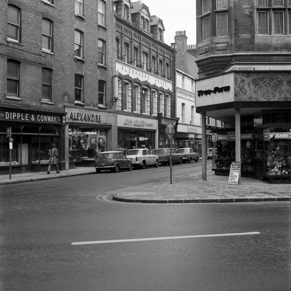 Sidney Street end of Petty Cury 1969-70