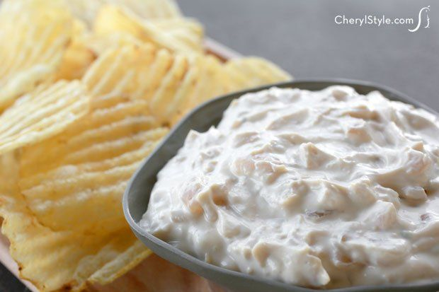 Real onions make this French onion dip tasy! - CherylStyle