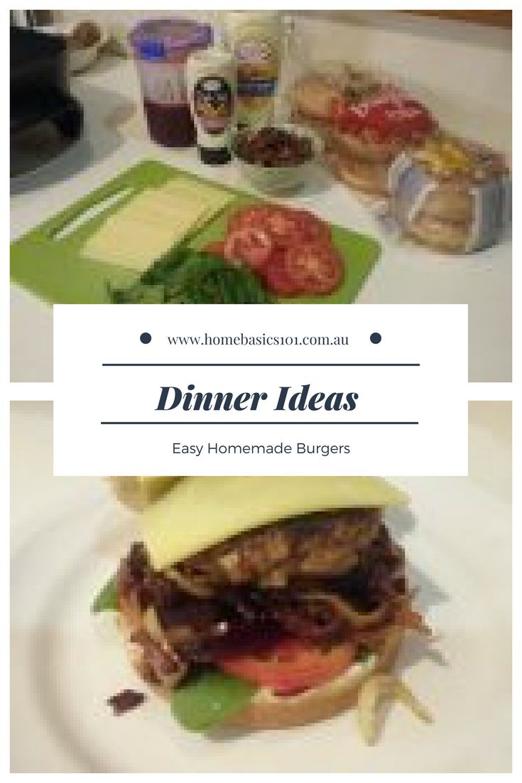 "Homemade Burgers  One of my absolute favourite homemade ""takeaway"" meal is hamburgers.  The recipe is from the Better Homes and Gardens magazine (Sept 2015 edition) which I tweek a little bit, depending on what I have. #Food"