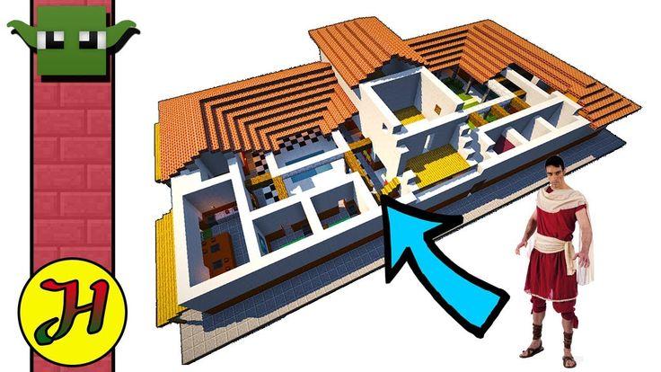 Minecraft Creative Tips Tricks: MINECRAFT ROMAN VILLA - (EASY Build 05)