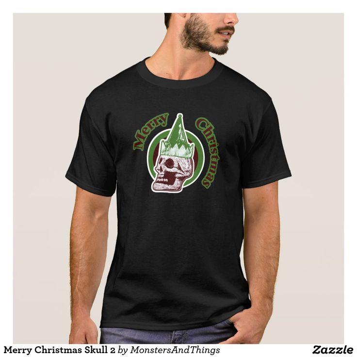 Merry Christmas Skull 2 T-Shirt