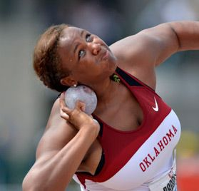 USA Track & Field - Tia Brooks Women's Shot Put - An East Kentwood girl; Good luck at the Olympics, Tia!!!