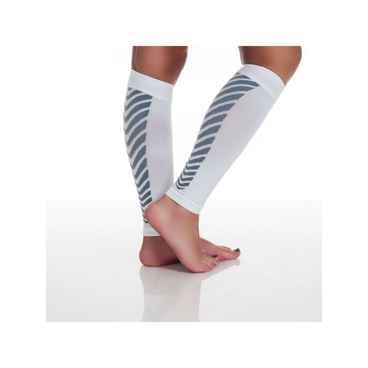 Calf Compression Running Sleeve Socks - Adult, White