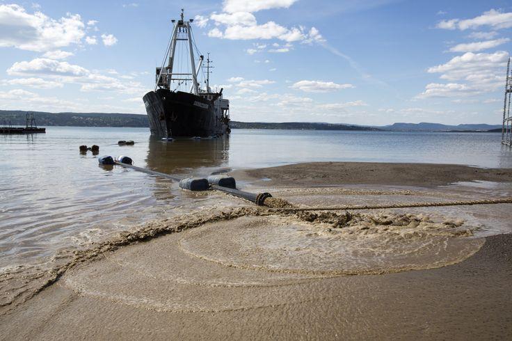 https://flic.kr/p/HCeToW   Påfyll av sand på Oslos strender   Hvervenbukta
