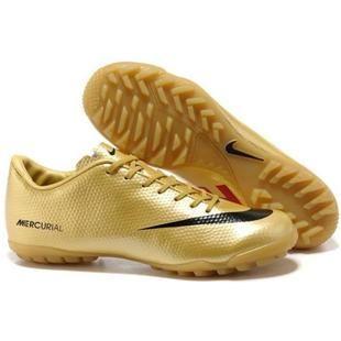 http://www.asneakers4u.com Nike Mercurial Vapor IX TF Gold Black Red Astro Turf Nike Vapor 9 Football Shoes
