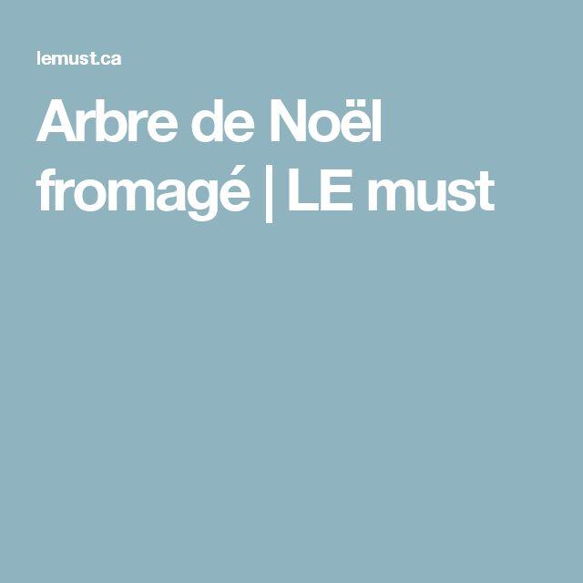 Arbre de Noël fromagé | LE must