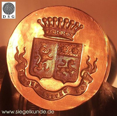 Wax Seal Matrix Coat Of Arms Heraldry Stamp Siegel