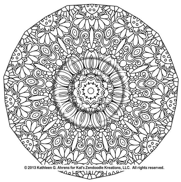 21 best Coloring Pages for Grown Ups Mandalas images on