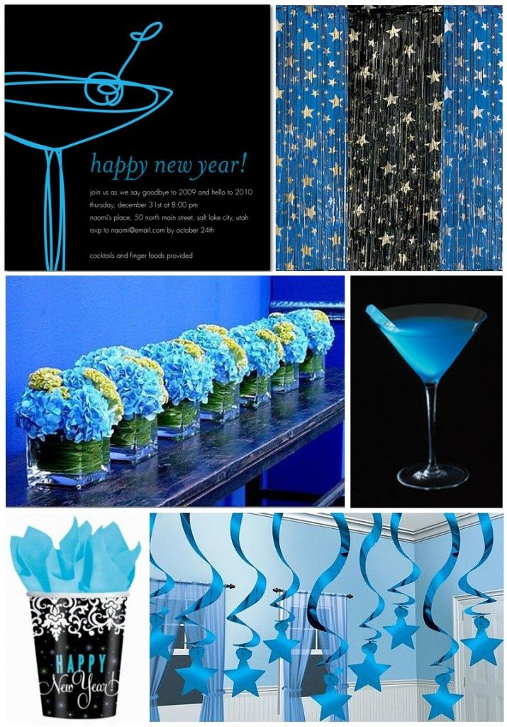 New Years Cocktail Party Ideas Part - 37: Inspiration Board: New Yearu0027s Eve Party