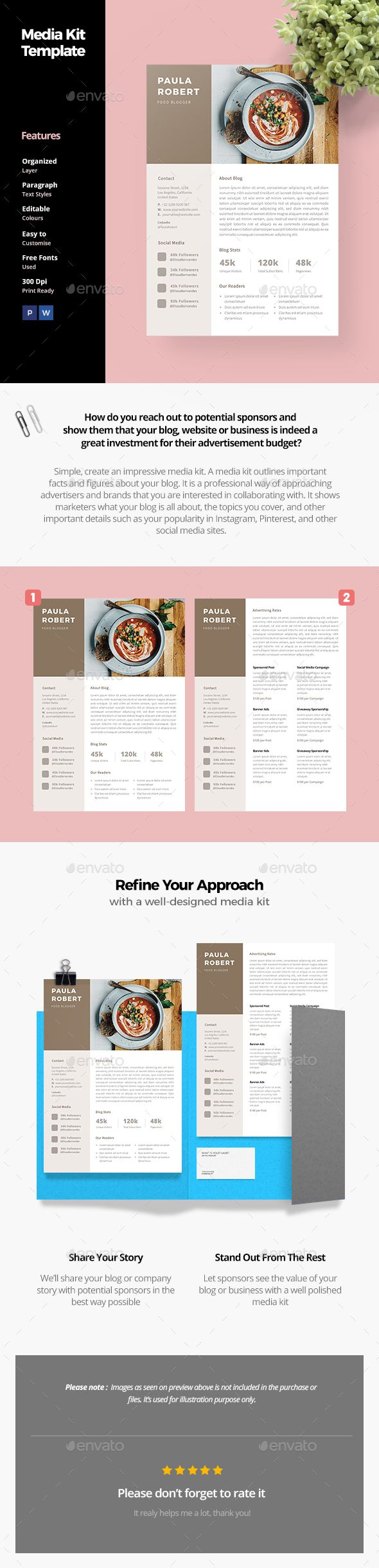 how to create a proposal template in word%0A Media Kit Template