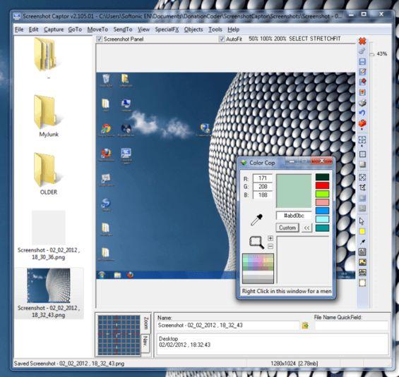 برنامج سكرين كابتر لتصوير لقطات من الشاشة 4.8.0 Screenshot Captor