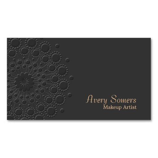 330 best makeup artist business card templates images on pinterest elegant faux embossed makeup artist black business cards cheaphphosting Image collections