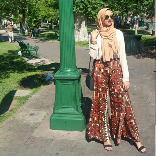 Bohemian palazzo pants with hijab-Colorful casual summer wear – Just Trendy Girls