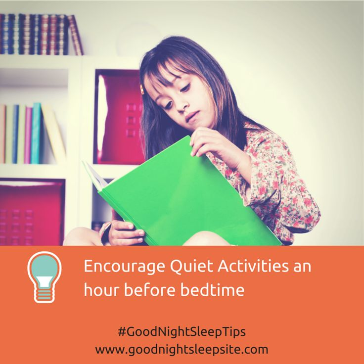 Sleep Tip: An hour before bedtime, it's time to wind down stimulating activities like TV, computer games, and Internet usage, which can make it hard for children (and parents!) to calm down before bed. It suppresses your natural melatonin release and can cause sleep problems. #goodnightsleeptips #sleep