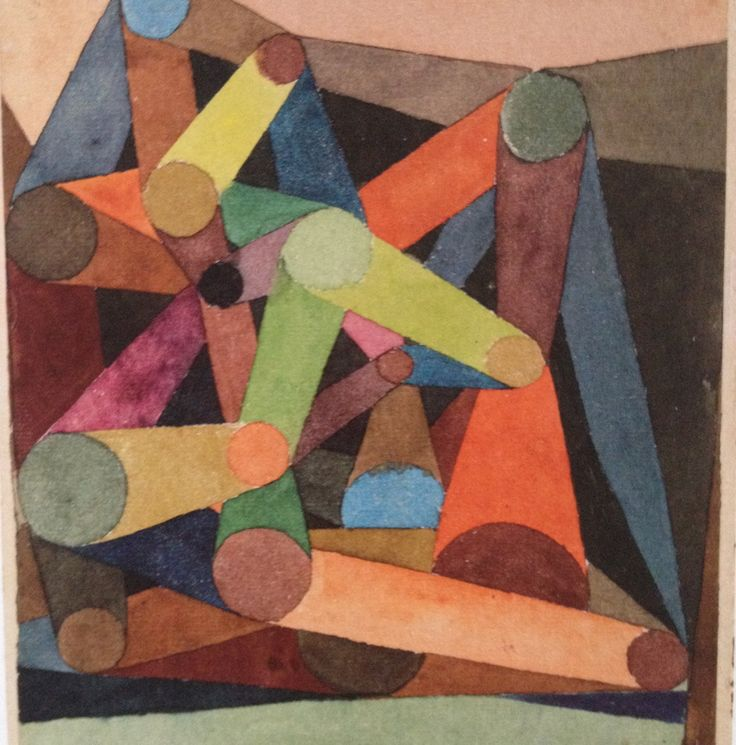 Paul Klee - Opened Mountain, 1918 Watercolour on paper on cardboard