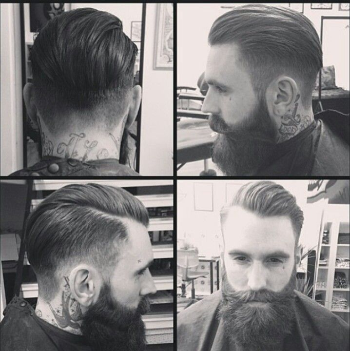 Hair and beard work here. Call me crazy but I do love this hair cut right now.