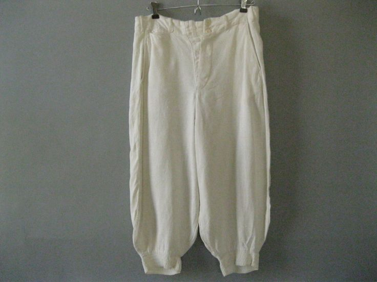 Antique Mens Knickers - Linen Jodhpurs - 32Waist by LadyScarlettsVintage on Etsy