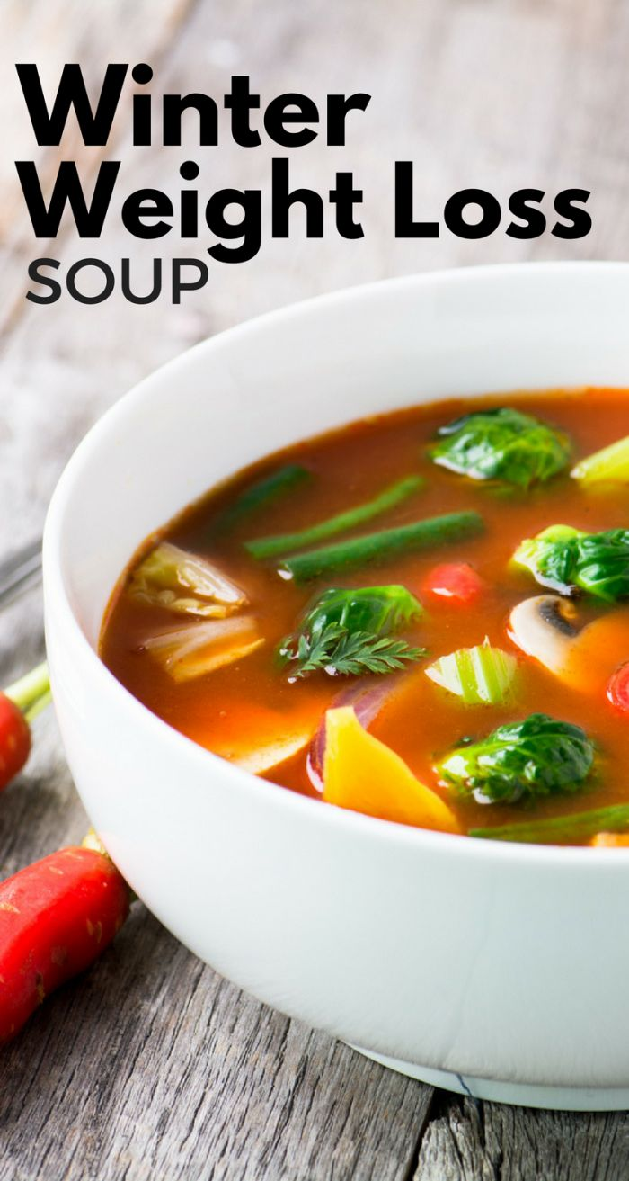 Winter Weight Loss Soup is a vivid reminder that losing weight doesn't have to be painful! ~ theviewfromgreatisland.com