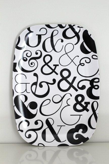 Shop ampersand melamine platter ampersand pattern for Ampersand decoration etsy