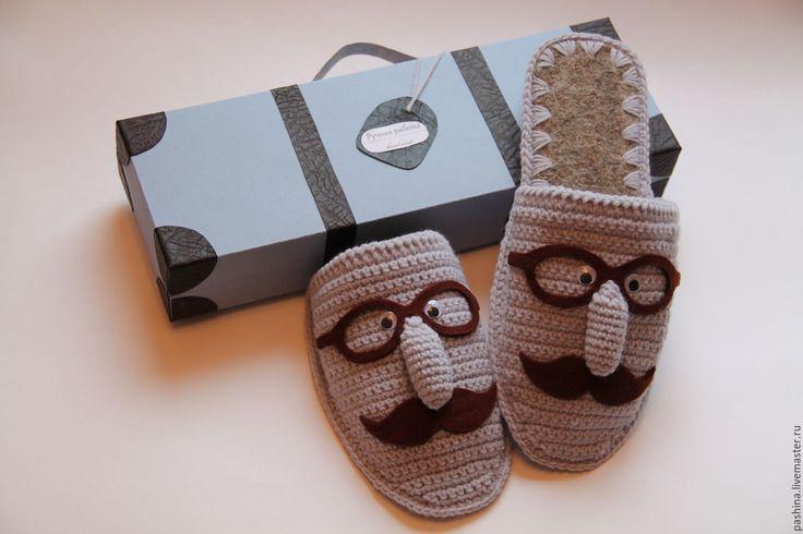 Купить Подарок мужчине тапочки домашние подарок мужу на день рождения УСАЧИ
