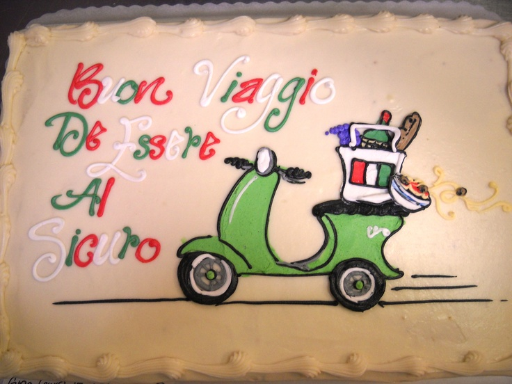 Italian Vespa cake #icingonthecakelosgatos