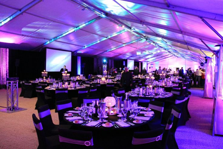 Corporate Dinner Event in the Onsite Marquee at Crowne Plaza Hunter Valley