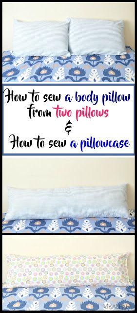 Vikalpah: Wie man ein Körperkissen aus zwei Kissen näht und wie …   – Sewing projects