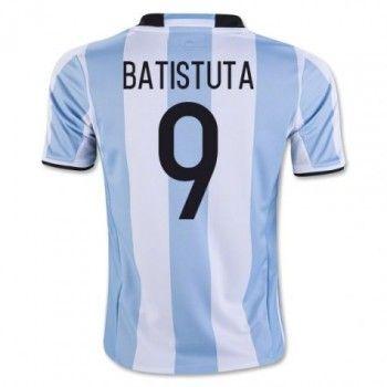 Argentina 2016 Batistuta 9 Hemmatröja Kortärmad   #Billiga  #fotbollströjor