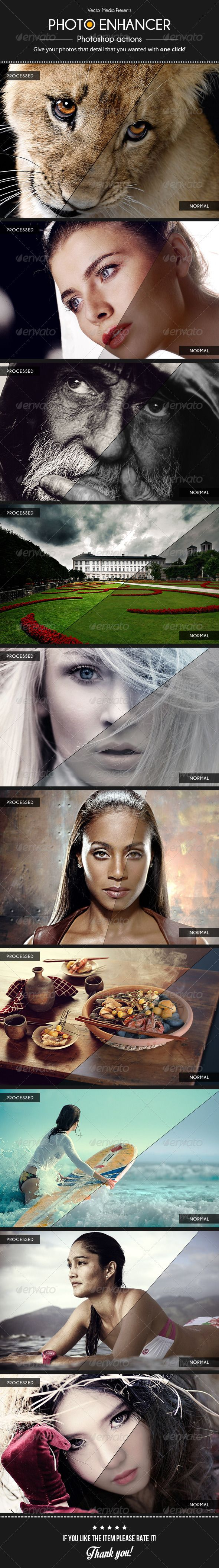 Photo Enhancer - Actions  #GraphicRiver        Photo Enhancer – Actions Features:   10 Professional photoshop actions  100% Editable actions  ATN File  Readme file  Don't forget to rate this item, it helps a lot. Thanks    Enjoy, and happy design!     Created: 23August13 Add-onFilesIncluded: PhotoshopATN WorksWith: JPG #RAW Tags: action #actions #add-on #effect #enhancer #enhancing #fashion #gloss #hdr #landscape #light #lighteffect #lights #nature #photo #photoenhancer #photography…
