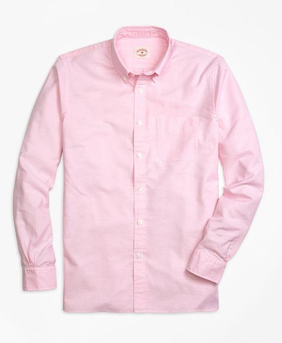 Red Fleece Solid Oxford Sport Shirt