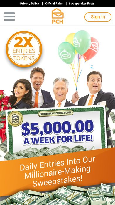 sweepstakes app 124 best 2 000 000 00 plus 10 000 00 a month and a 2894