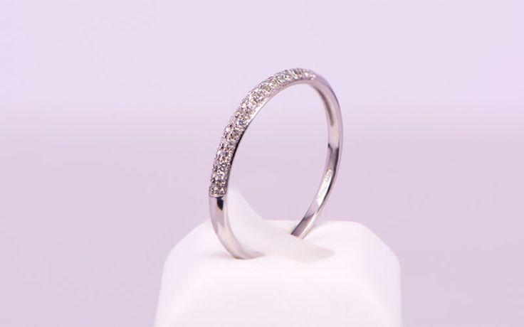 Δαχτυλίδι σειρέ Κ18 λευκόχρυσο διαμάντια