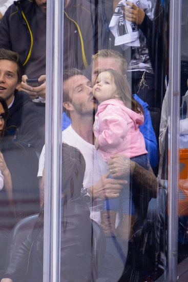 Beckham and Tom Cruise at LA Kings Game