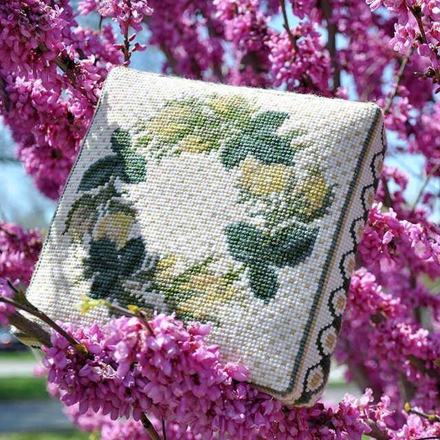 The Rosebud Wreath Special Edition Needlepoint Kit by Elizabeth Bradley Designs