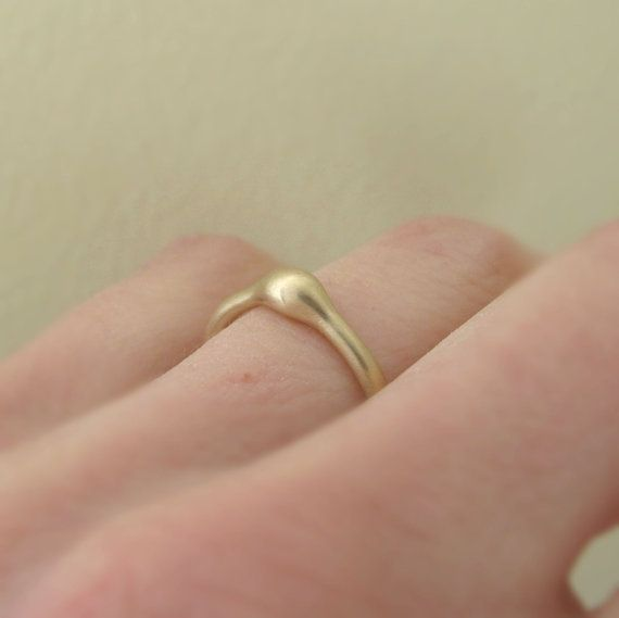 Rain Engagement Ring in 14k Yellow Gold by esdesigns on Etsy