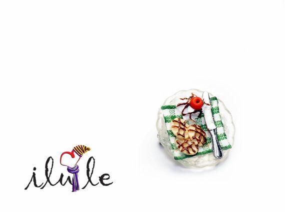 Брошь завтрак сладкая брошь брошь вафли миниатюра сладкие от IluLe, $16.00