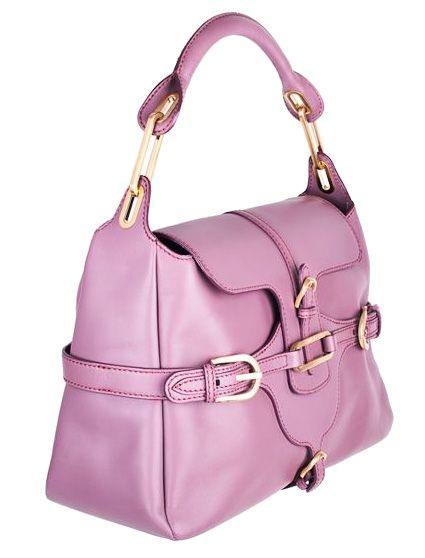 Jimmy Choo Purple Leather Tulita satchel Tote Bag Handbag